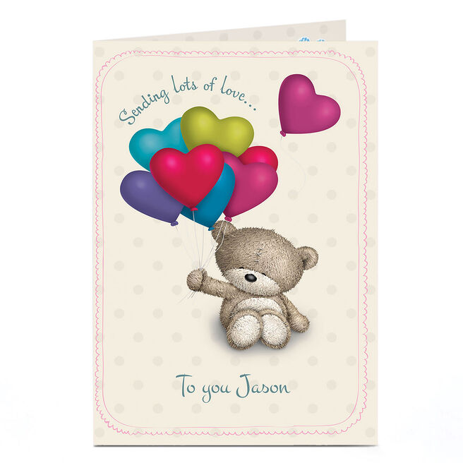 Personalised Hugs Bear Card - Sending Lots Of...