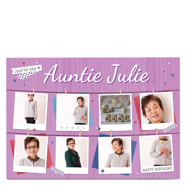 Multi Photo Card - Just For You (Purple)