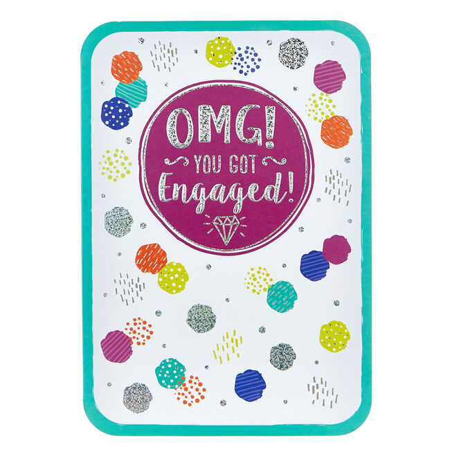 Engagement Card - OMG! Coloured Spots