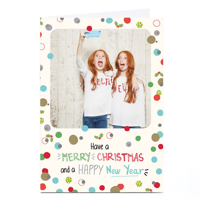 Photo Christmas Card - Merry Christmas & Happy New Year