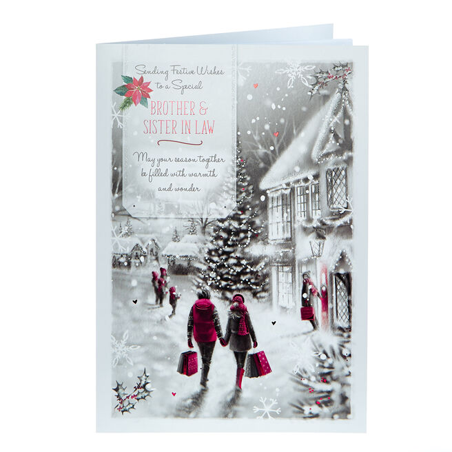 Christmas Card - Brother & Sister In Law Festive Wishes