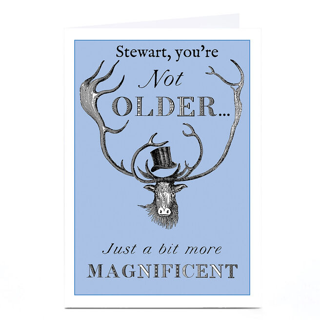 Personalised Toodle Pip Card - Not Older
