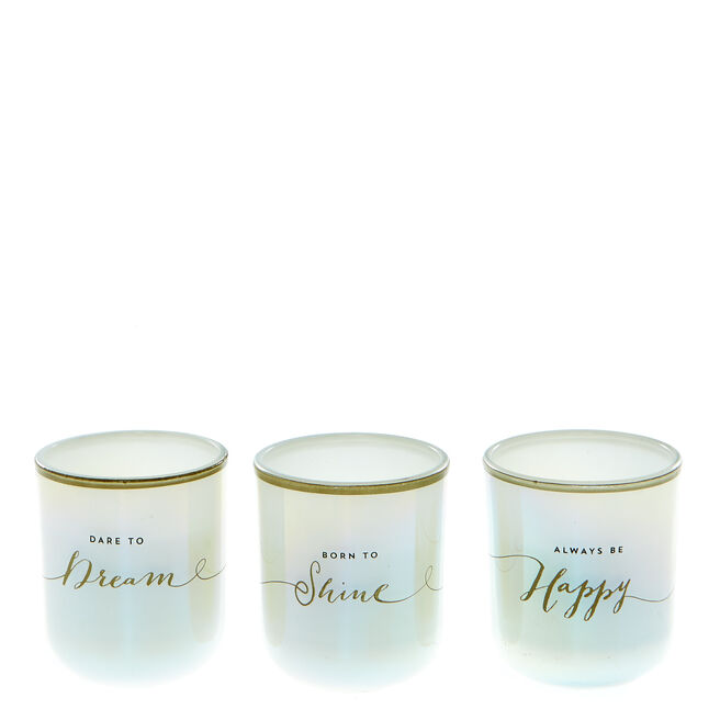 Shine Your Light Scented Candles - Set Of 3