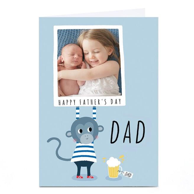 Photo Lemon & Sugar Father's Day Card - Dad Blue Polaroid