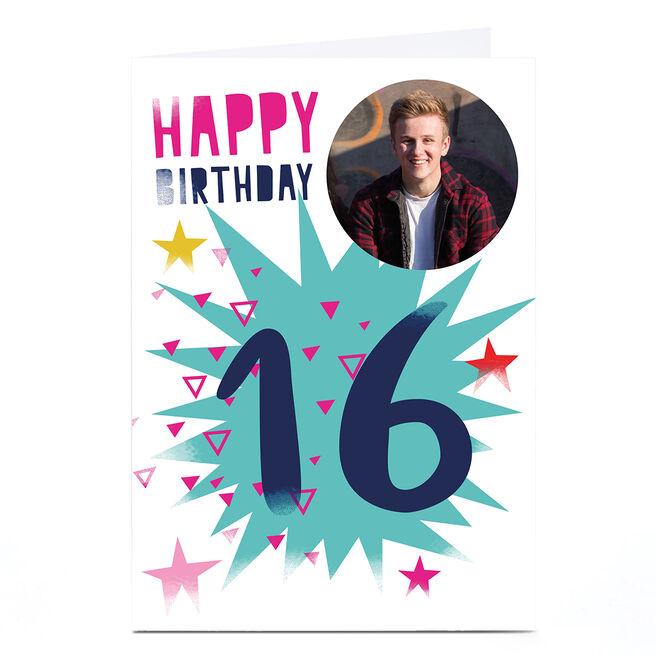 Photo Hello Munki Birthday Card - Age 16