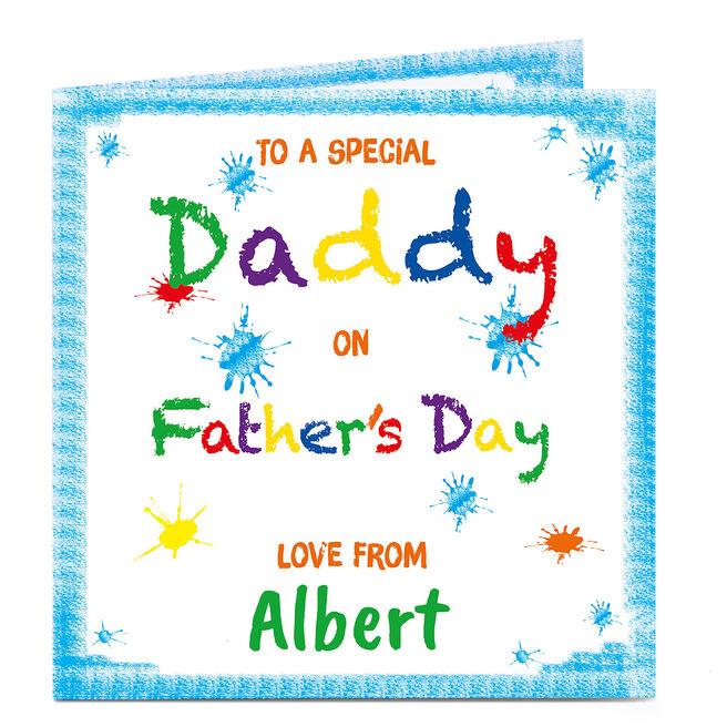 Personalised Father's Day Card - Special Daddy Colouring