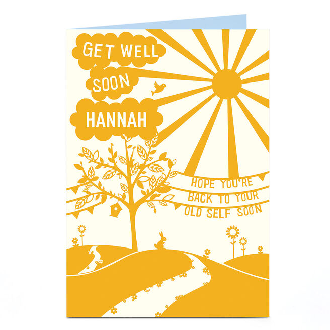 Personalised Get Well Soon Card - Back To Your Old Self
