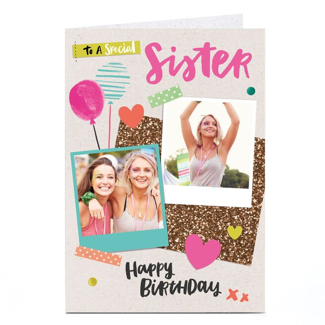 Photo Birthday Card - To A Special Sister