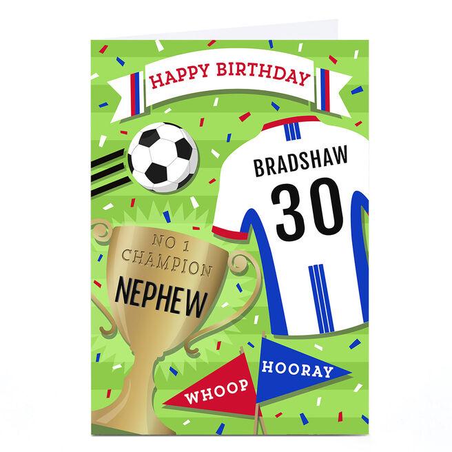 Personalised Birthday Card - Football Shirt