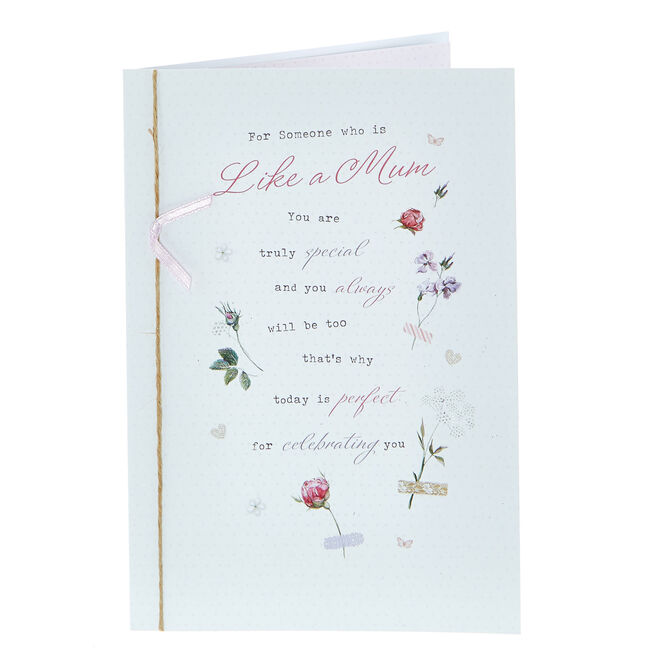 Birthday Card - Someone Who Is Like A Mum