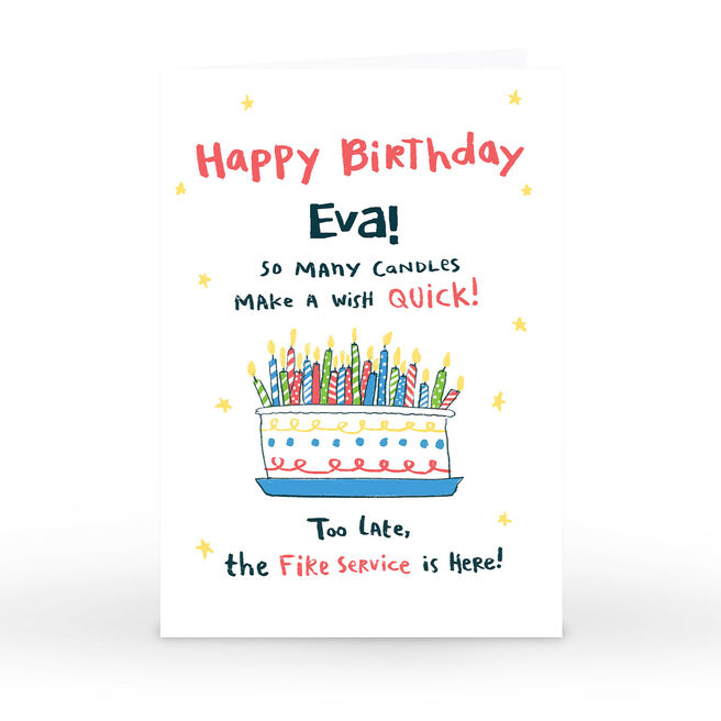 Hew Ma Personalised Birthday Card - So Many Candles!
