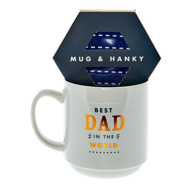 The Best Dad In The World Mug & Hanky Set
