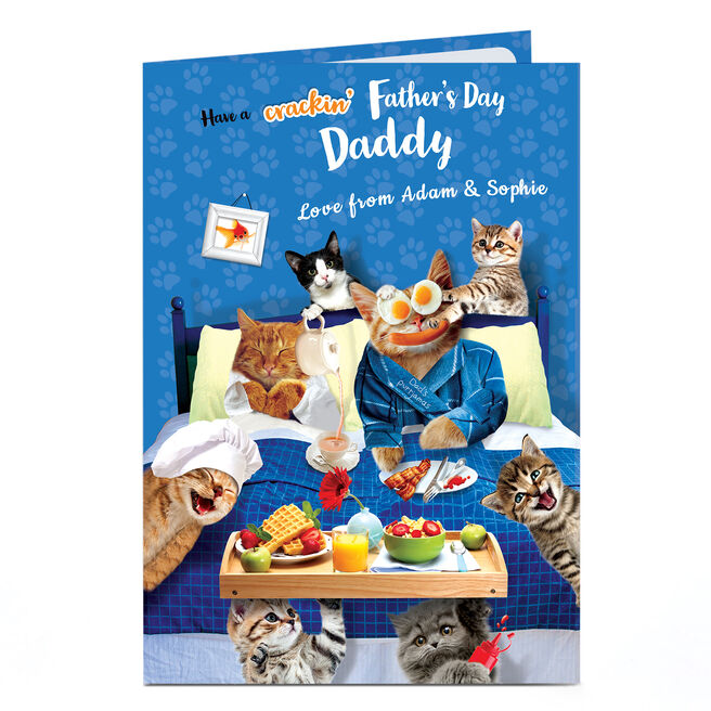 Personalised Father's Day Card - Crackin' Day Daddy
