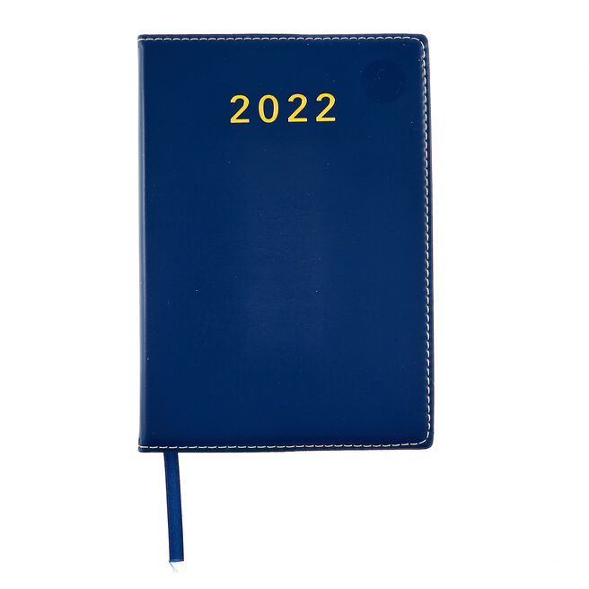Navy Page-A-Day 2022 Pocket Diary