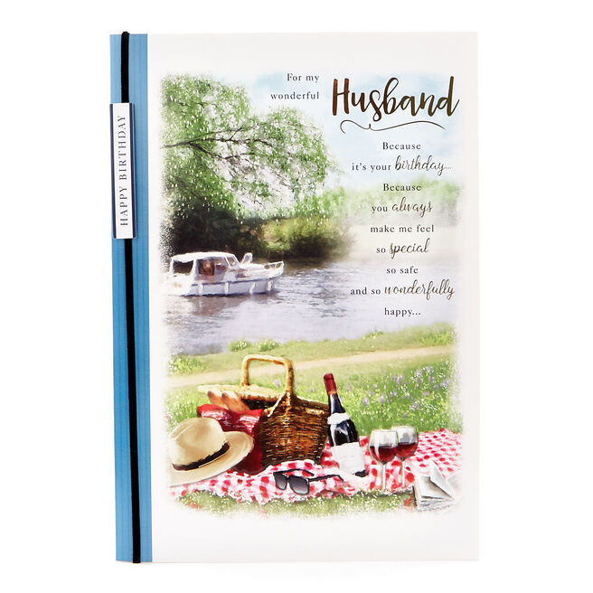 Signature Collection Birthday Card - Husband Picnic