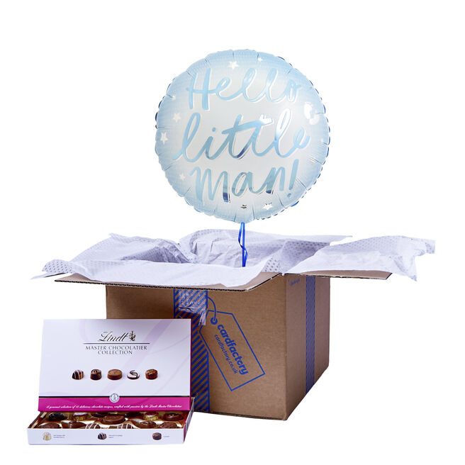 Hello Little Man Balloon & Chocolate Box