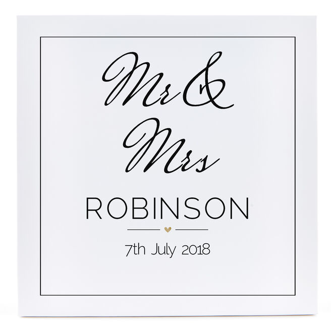 Personalised Canvas - 12x12 Inches (Square) - Wedding Date