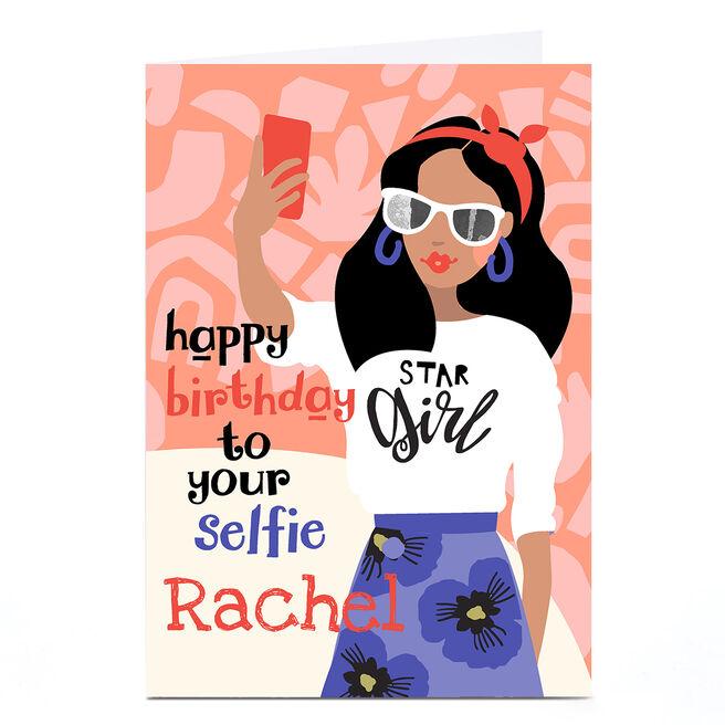 Personalised Bev Hopwood Birthday Card - Your Selfie