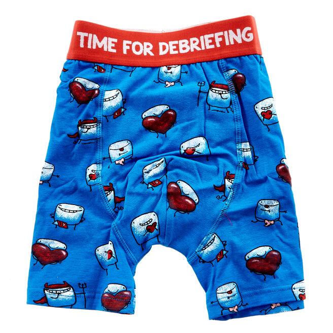 Love Bites Time For Debriefing Boxer Shorts - Medium