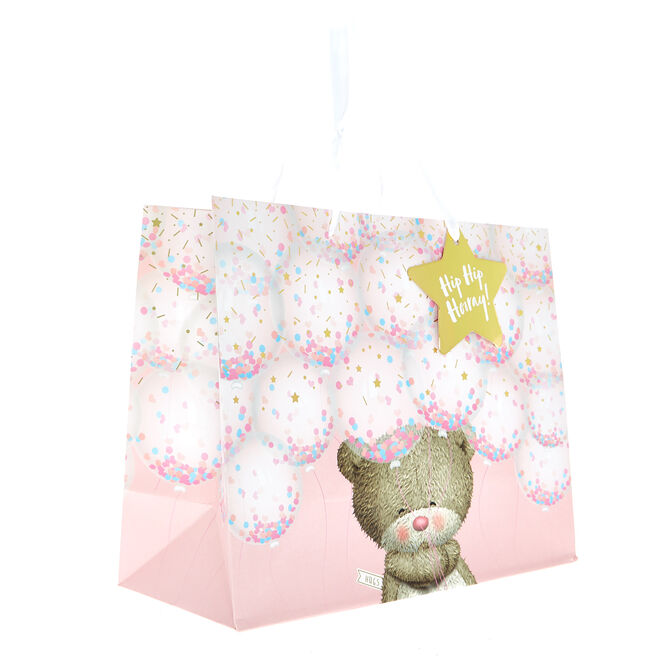 Large Landscape Hugs Bear Gift Bag - Hooray!
