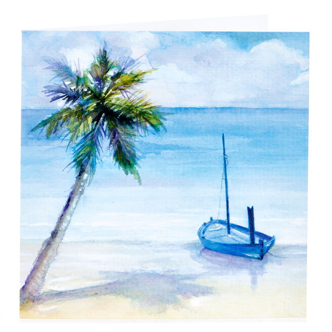 Blank Card - Beachfront Watercolour