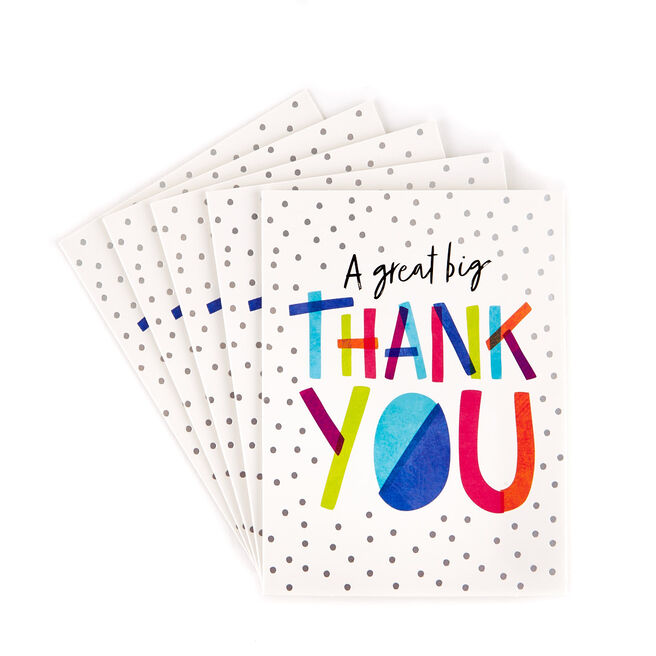 "A Great Big Thank You"" Cards - Pack of 12"""