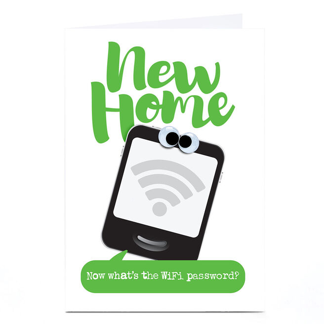 Personalised PG Quips New Home Card - Now What's The WiFi password?