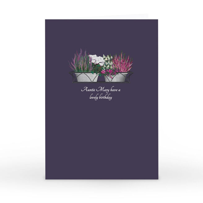 Personalised Kerry Spurling Card - Plant Pots