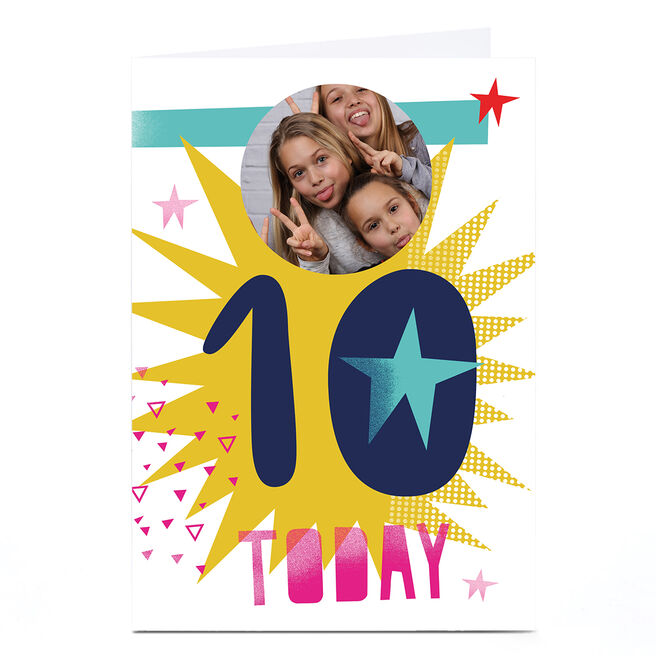 Photo Hello Munki Birthday Card - Age 10