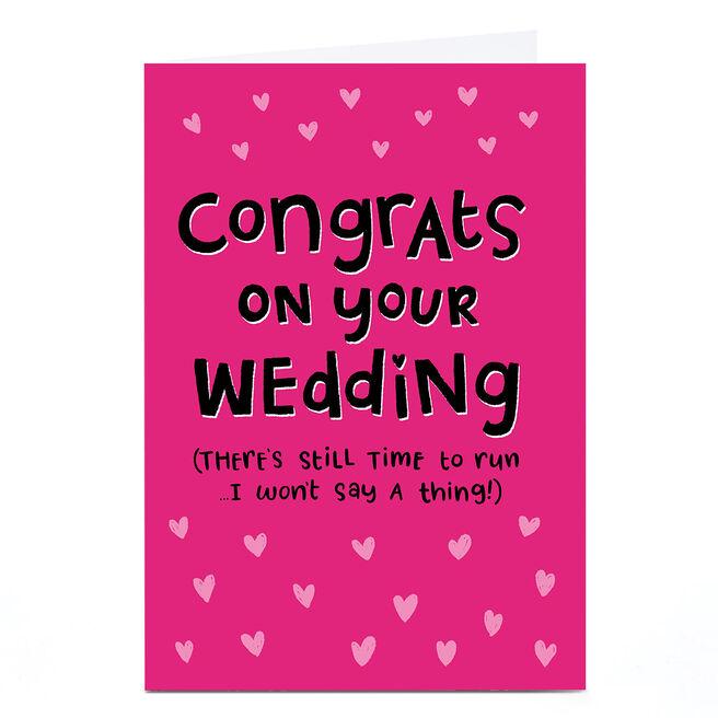 Personalised Blue Kiwi Wedding Card - Congrats