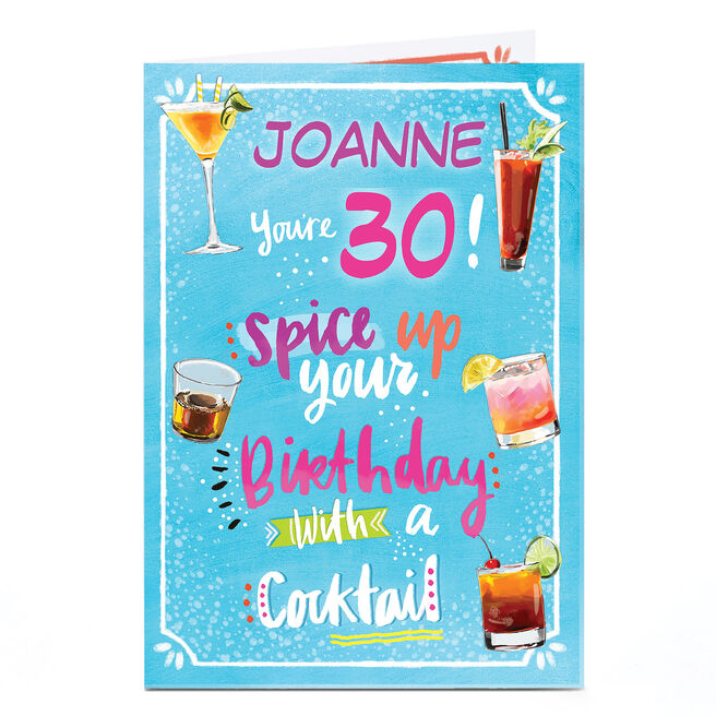 Personalised Any Age Birthday Card - Spice Up Your Birthday