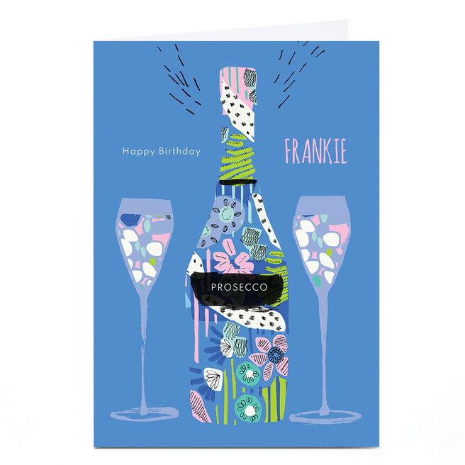 Personalised Rebecca Prinn Birthday Card - Prosecco