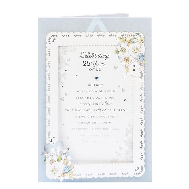 25th Wedding Anniversary Card - Celebrating Us