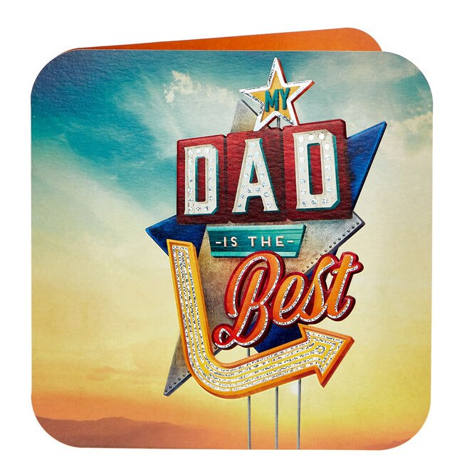 Platinum Collection Father's Day Card - Dad Is The Best