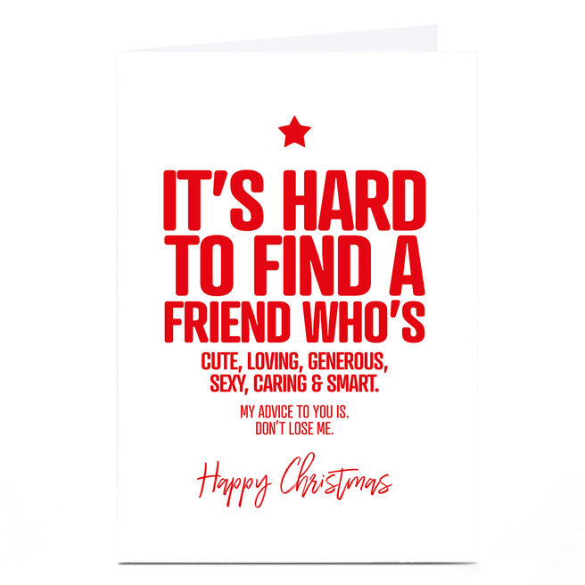 Personalised Punk Christmas Card - Find a Friend
