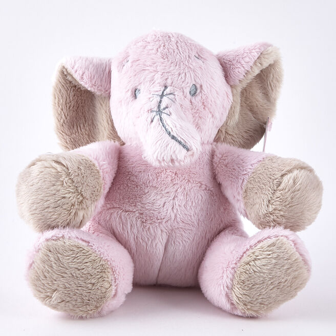 Tiny Treasures Pink Elephant Plush