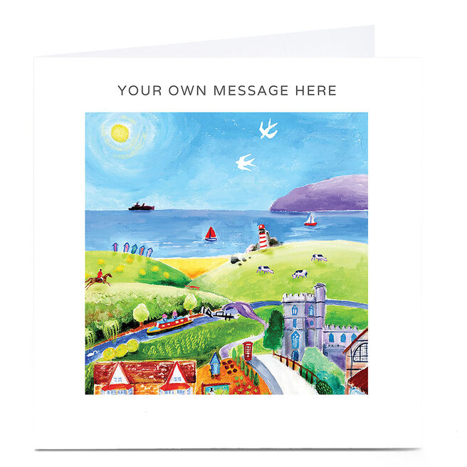Personalised Card - Hills And Sea Scene