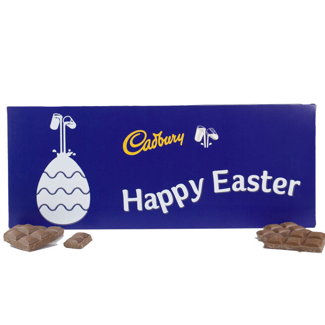 Personalised Easter Cadbury Dairy Milk Bar - 850g