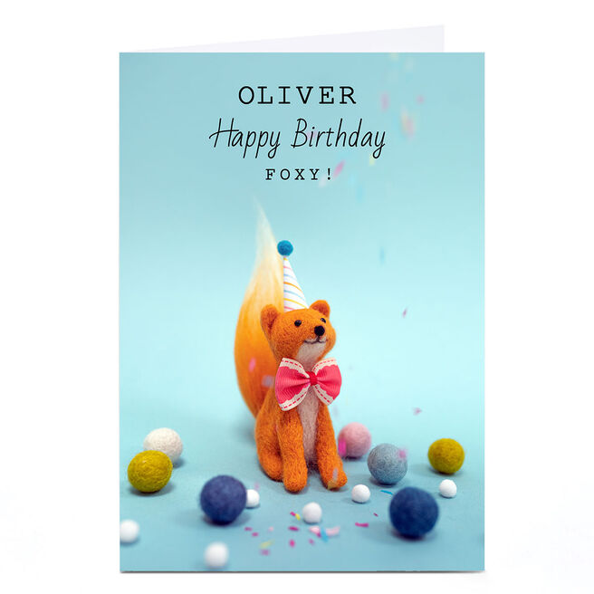 Personalised Lemon and Sugar Birthday Card - Foxy