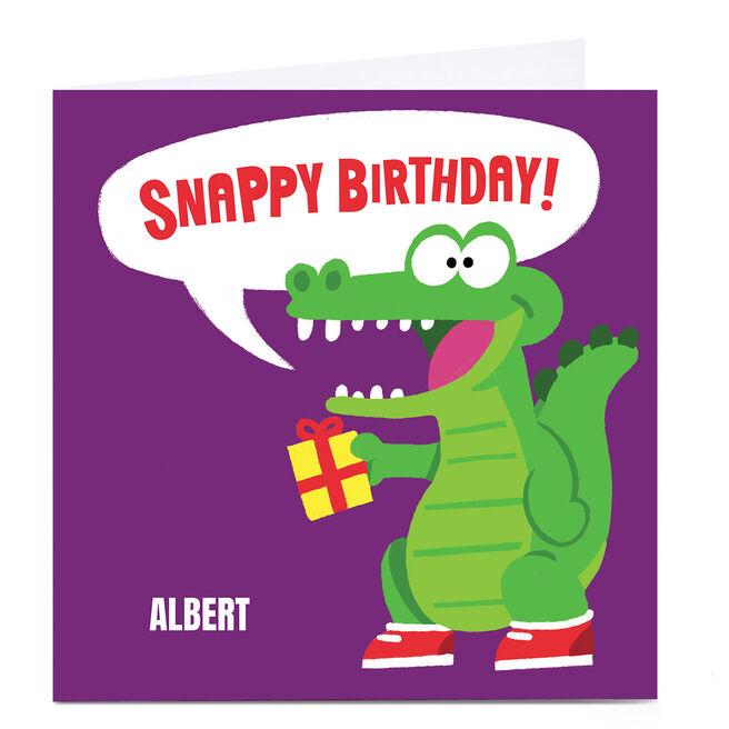 Personalised Mega Bites Birthday Card - Snappy Birthday