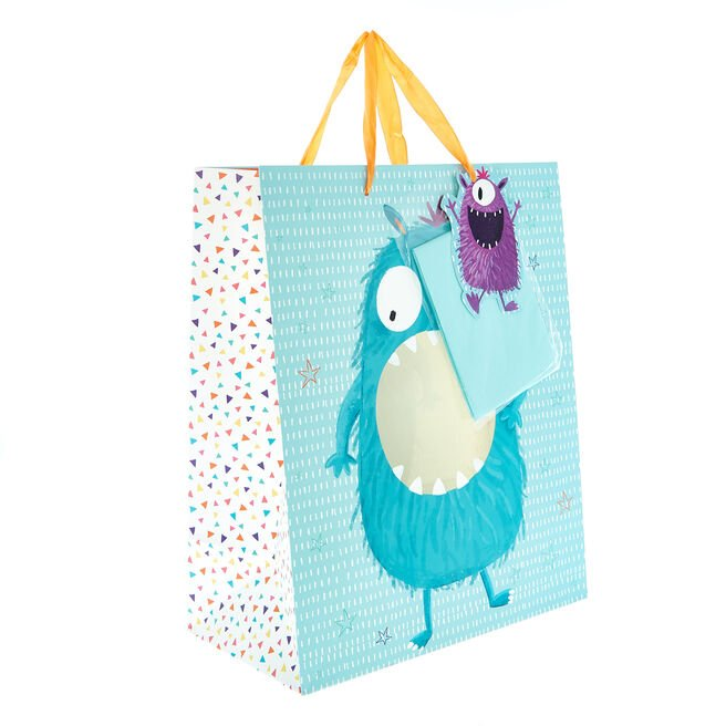 Medium Portrait Gift Bag - Monster (With Tissue)