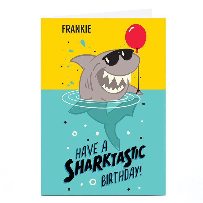 Personalised Kiddo Birthday Card - Sharktastic Birthday