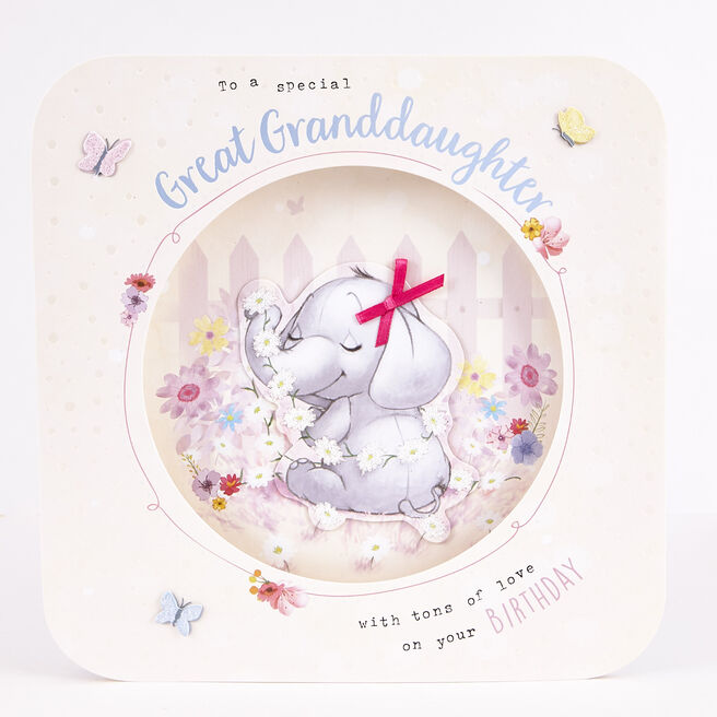 Exquisite Collection Birthday Card - Great Granddaughter