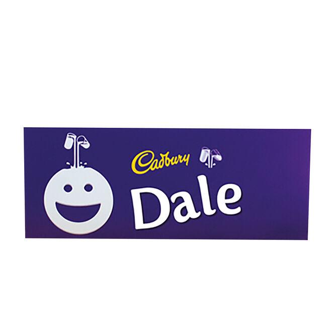Personalised 850g Cadbury Dairy Milk Bar - Smiley