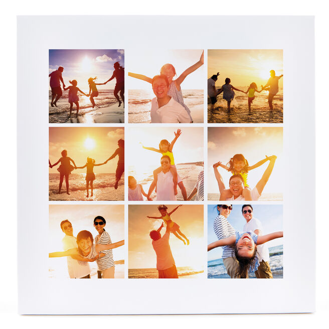 Personalised Canvas - 12x12 Inches (Square) - 9 Photo Upload Collage