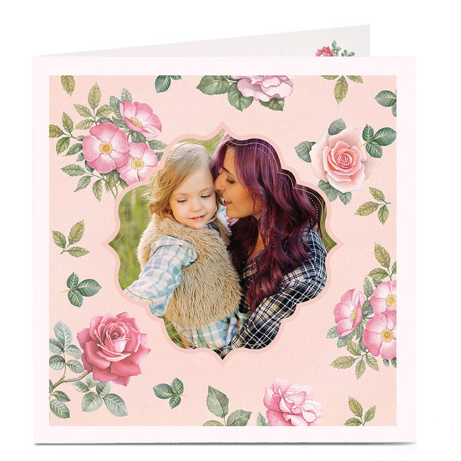 Photo Card - Vintage Pink Floral