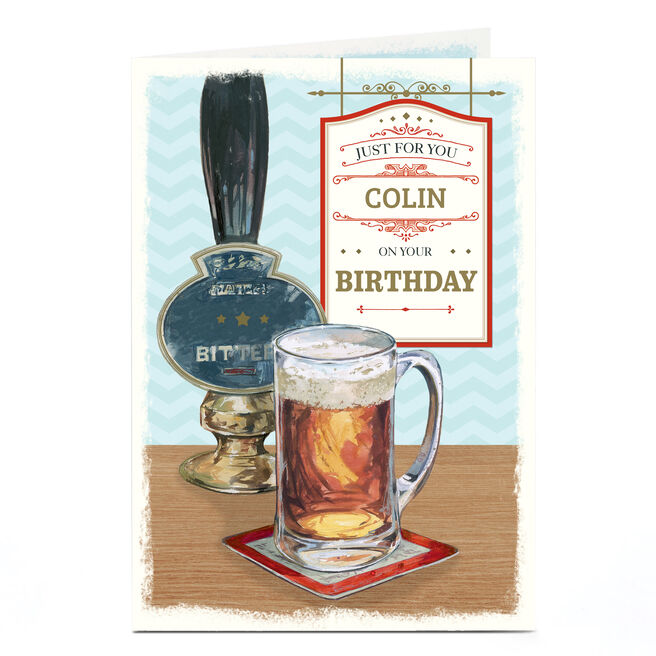 Personalised Birthday Card - Pub Scene