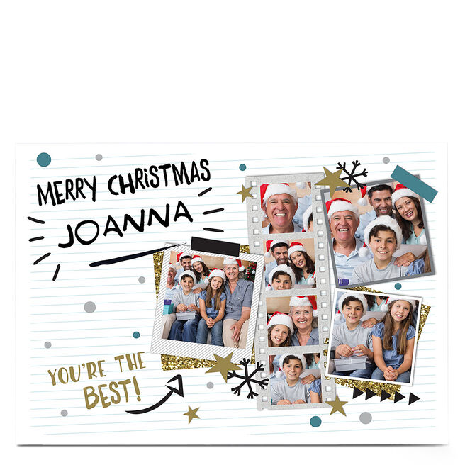 Multi Photo Christmas Card - You're The Best!