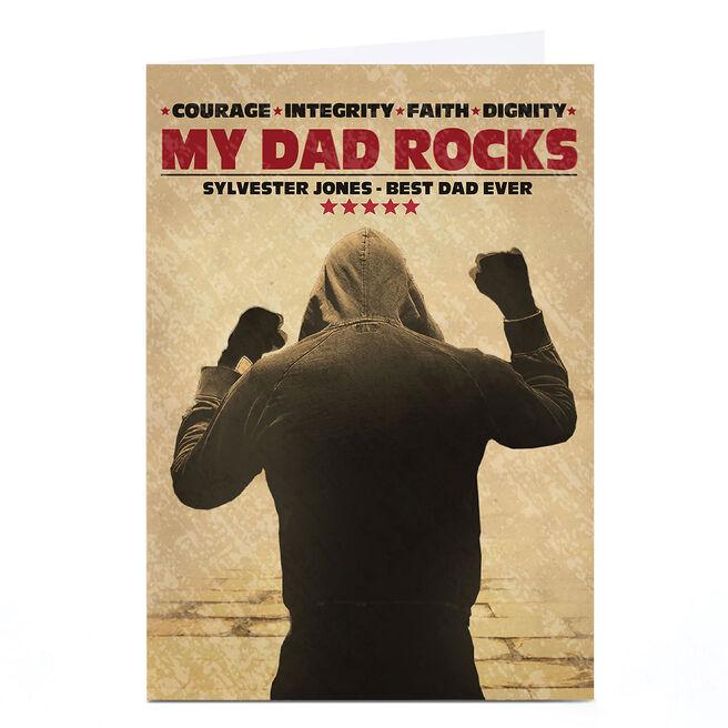 Personalised Card - Rocky Balboa, My Dad Rocks