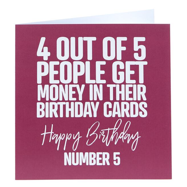 Punk Birthday Card - 4 Out Of 5 People